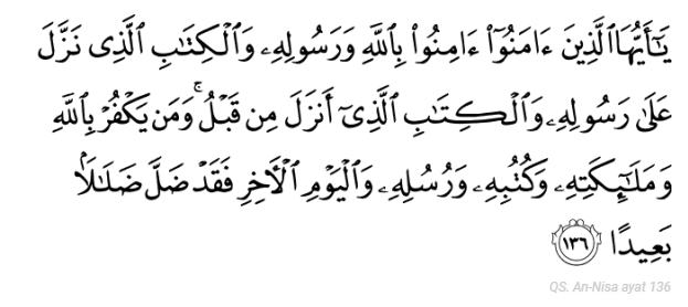 Firman Allah yang Menjelaskan Agar Kita Menyakini Kitab-Kitab Suci yang Turun Sebelum Al-Qur'an.